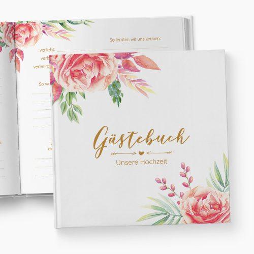 Gästebuch Hochzeit Floral