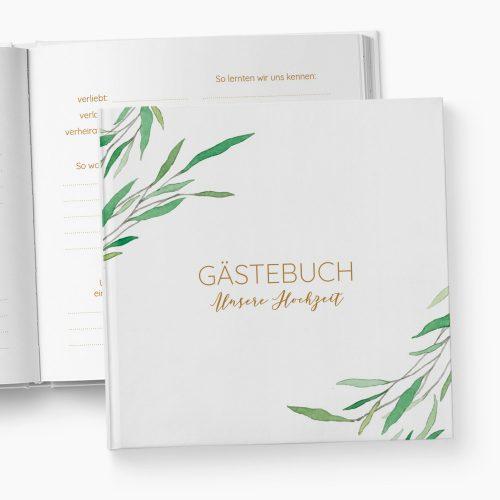 Gästebuch Hochzeit Greenery