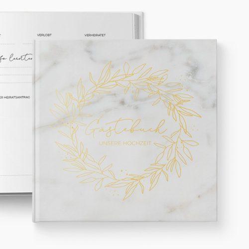 Gästebuch Hochzeit Marmor