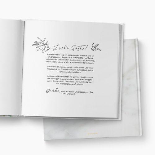 Gästebuch Hochzeit Marmor Einleitung
