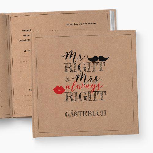 Gästebuch Hochzeit Mr. & Mrs.