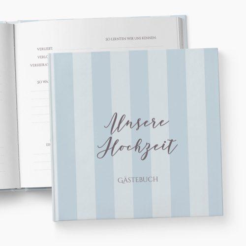 Gästebuch Hochzeit Stripes