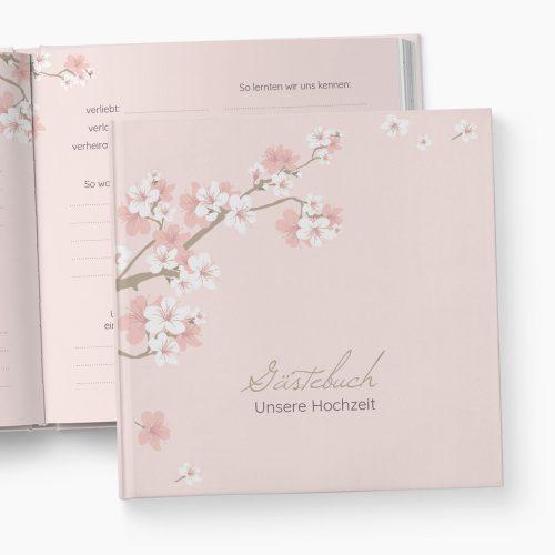 Gästebuch Hochzeit Kirschblüten