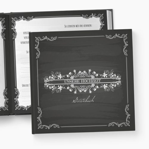 Gästebuch Hochzeit Blackboard