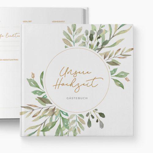 Gästebuch Hochzeit Wild Leaves