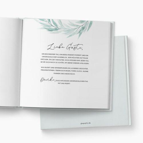 Gästebuch Hochzeit Soft Greenery