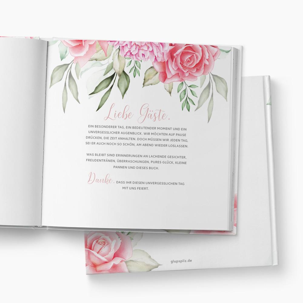 Gästebuch Hochzeit Pink Rose