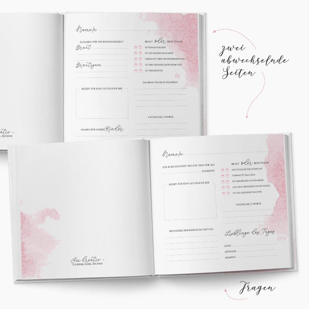 Gästebuch Hochzeit Glitter
