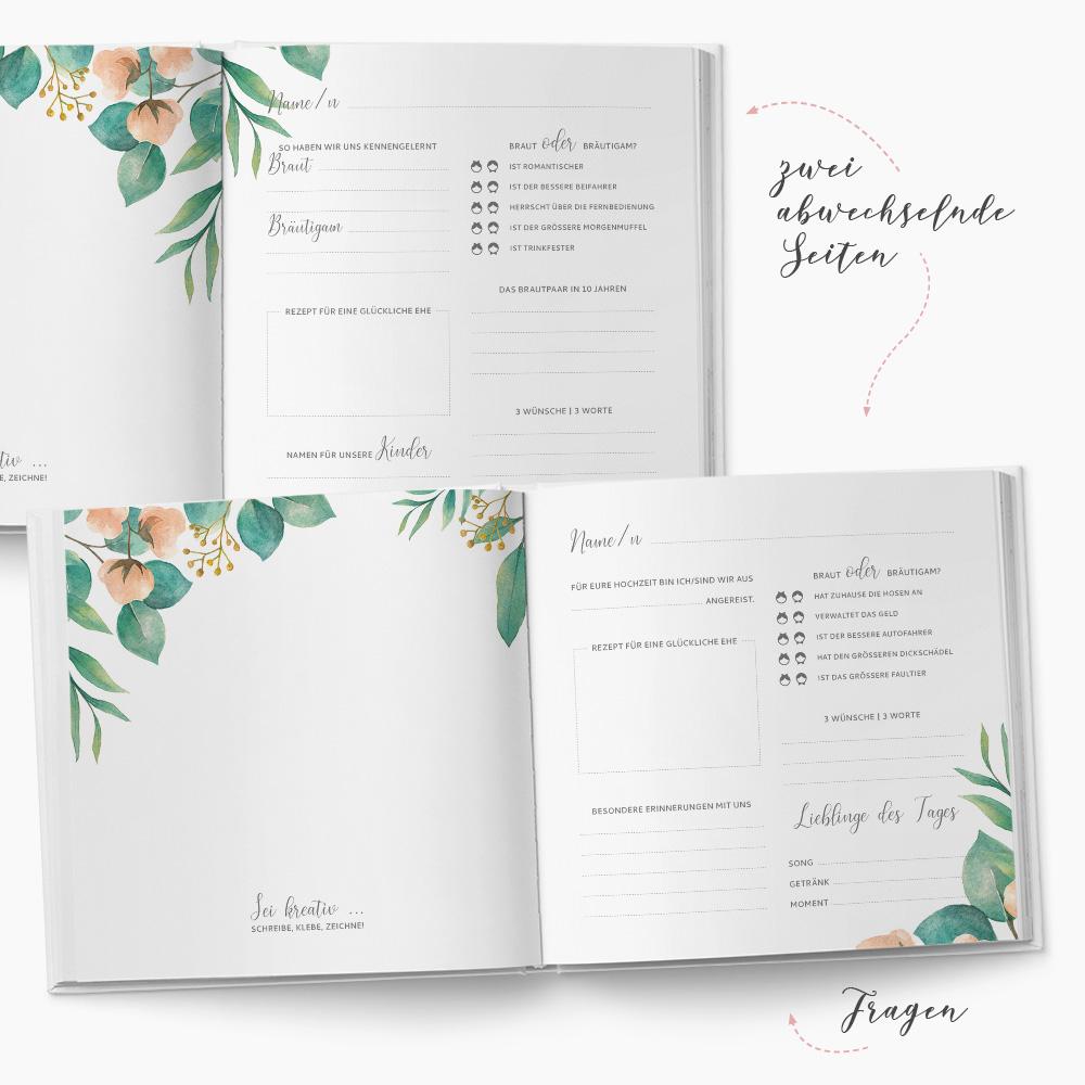 Gästebuch Hochzeit Vintage Florals