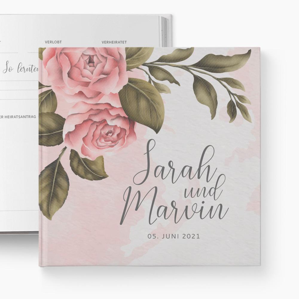 Gästebuch Hochzeit Vintage Peony