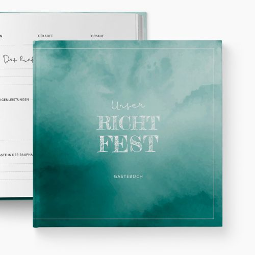 Gästebuch Richtfest Abenteuer Hausbau