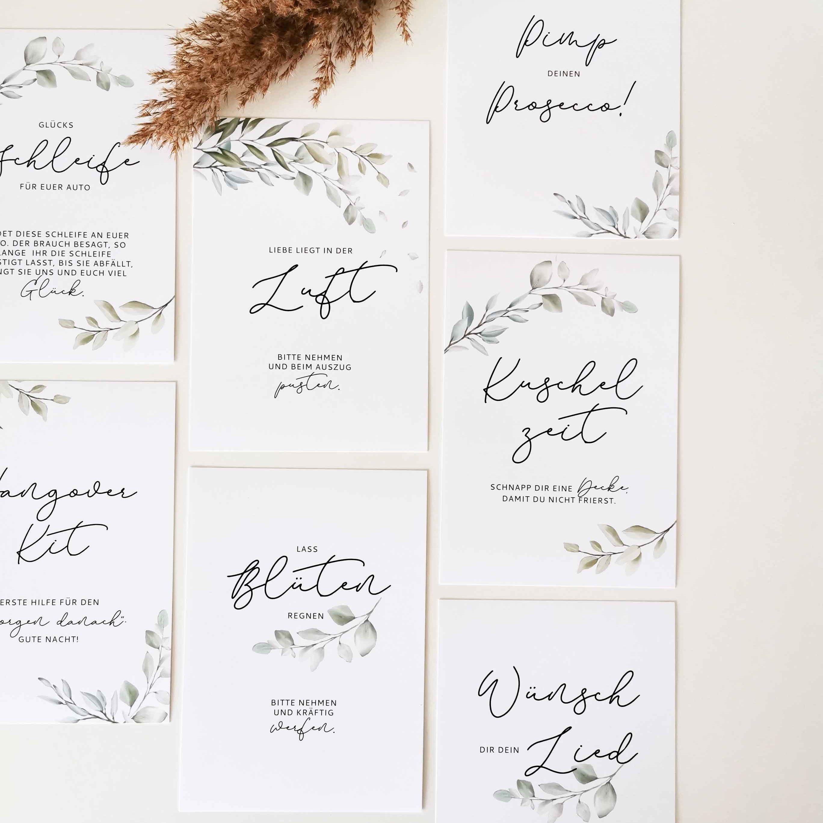 Schilder Hochzeit Lovely Greenery