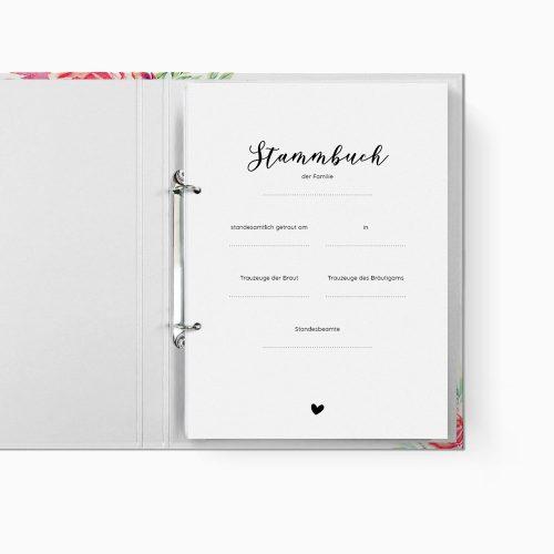 Stammbuch Floral Trennblatt