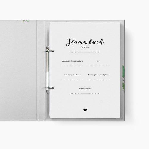 Stammbuch Greenery Trennblatt