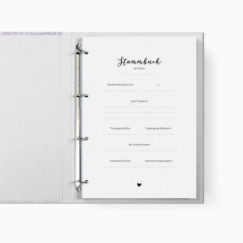 Stammbuch Blumenspitze Trennblatt