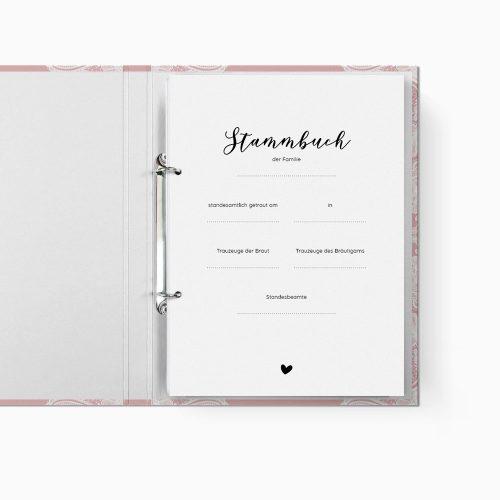 Stammbuch Romantik Trennblatt